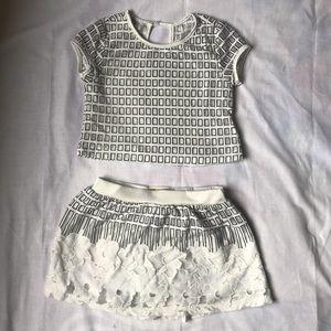 Kids top and skirt set